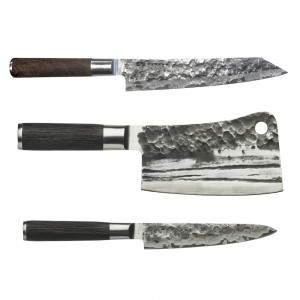 Kiritsuke 23cm, Chopper 18cm & Universalkniv 15cm