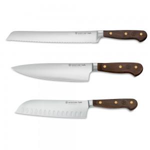 Kockkniv 20cm, Santoku 17cm & Brödkniv 23cm